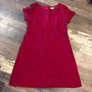 Liz Lange Maternity Red A-Line SS Dress L